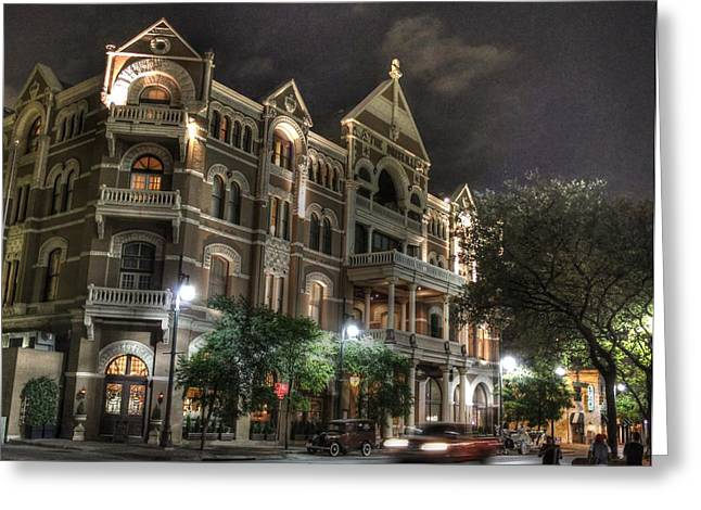 Austin Tx Greeting Cards - Driskill Hotel Greeting Card by Jane Linders