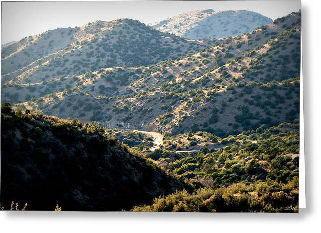 Rincon Greeting Cards - Drive Below the Hills Greeting Card by Aaron Burrows