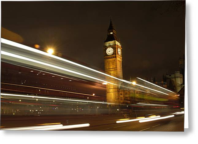 Night Scenes Greeting Cards - Drive by Ben - England Greeting Card by Mike McGlothlen