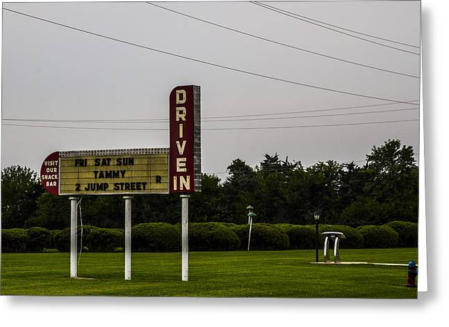 Outdoor Theater Greeting Cards - Drive In 2 Greeting Card by Angus Hooper Iii