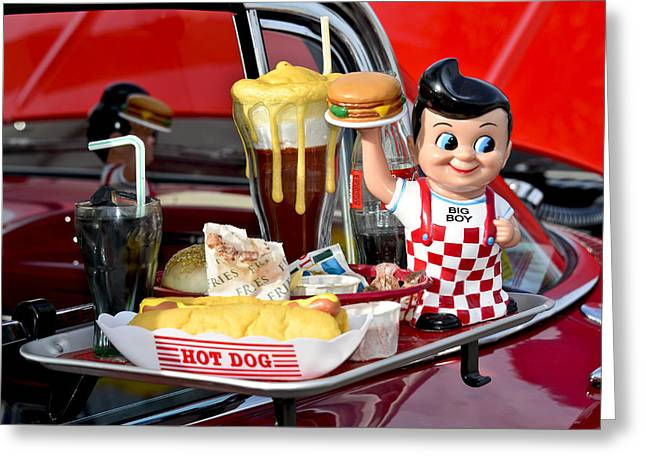 Cheeseburger Greeting Cards - Drive-In Food Classic Greeting Card by Carolyn Marshall