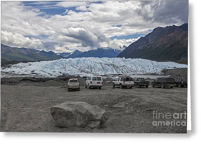 Could Reach Greeting Cards - Drive In Glacier Greeting Card by Shishir Sathe