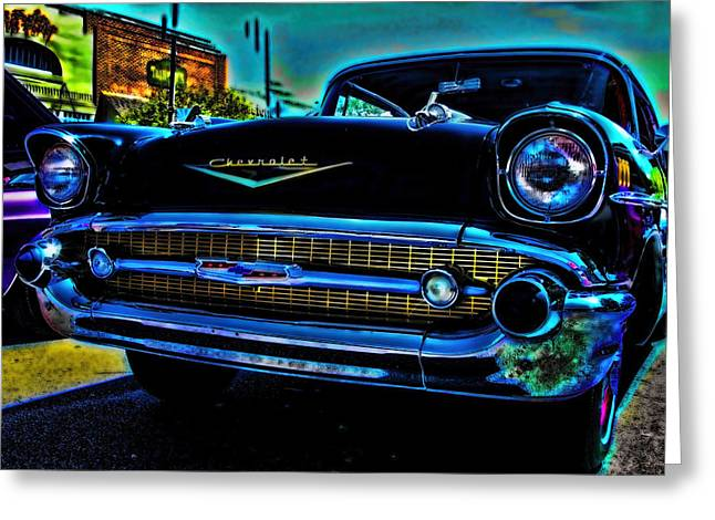 Chevy Greeting Cards - Drive In Special Greeting Card by Lesa Fine