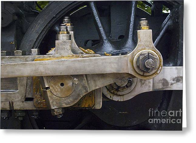 Locomotive Wheels Greeting Cards - Drive Rods Greeting Card by Paul W Faust -  Impressions of Light