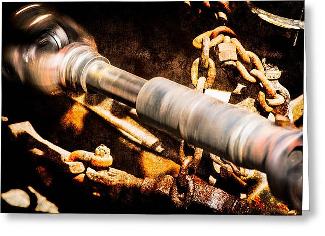 Axle Gear Greeting Cards - Drive Shaft - 1 Greeting Card by Alexander Senin