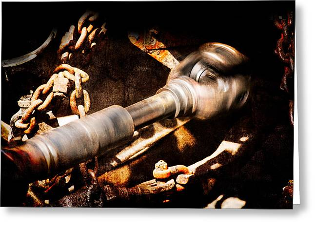 Axle Gear Greeting Cards - Drive Shaft - 2 Greeting Card by Alexander Senin