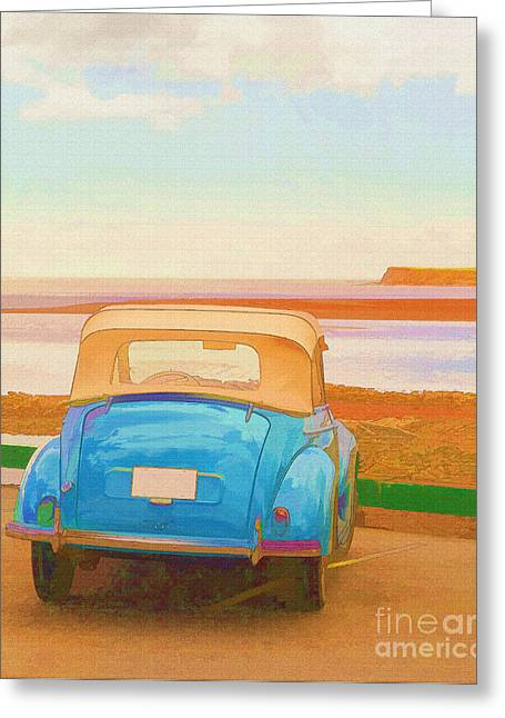 Victoria Photographs Greeting Cards - Drive to the Shore Greeting Card by Edward Fielding