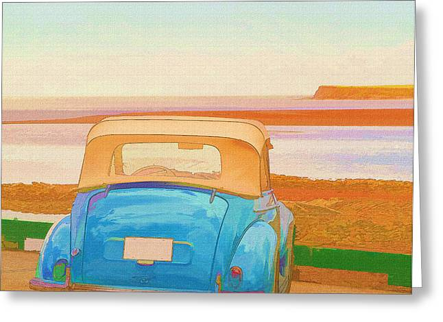 Drive to the Shore Greeting Card by Edward Fielding