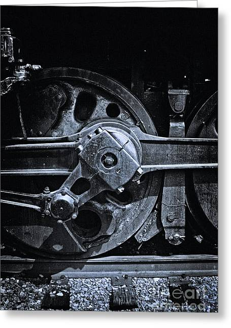 Iron Rail Greeting Cards - Drive Wheel - 190 Greeting Card by Paul W Faust -  Impressions of Light