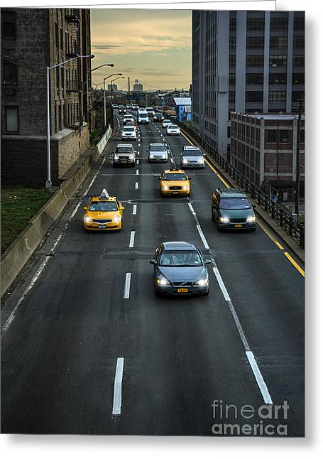 Driving Greeting Cards - Driven Greeting Card by Evelina Kremsdorf