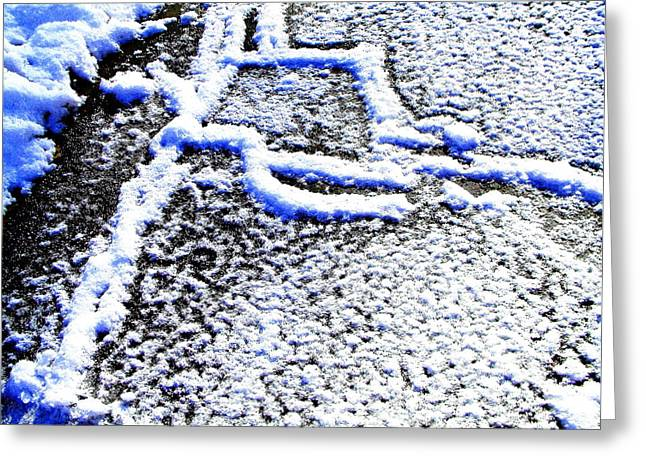Millbury Greeting Cards - Driveway Frost Greeting Card by Mike McCool