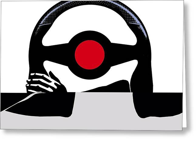 Steering Greeting Cards - Driving, conceptual artwork Greeting Card by Science Photo Library