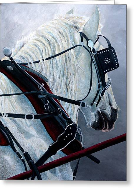 Horse Greeting Cards - Driving Force Greeting Card by Kimberly Shinn