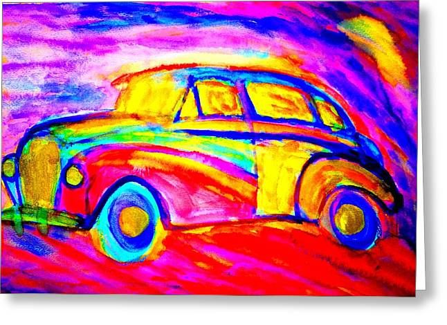 Sweating Greeting Cards - Driving home  Greeting Card by Hilde Widerberg