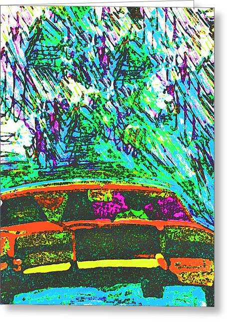 70;s Television Greeting Cards - Driving Home Greeting Card by Mervyn Cornelius