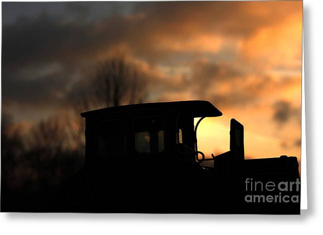 Transportation Reliefs Greeting Cards - Driving in the sunset Greeting Card by Four Hands Art