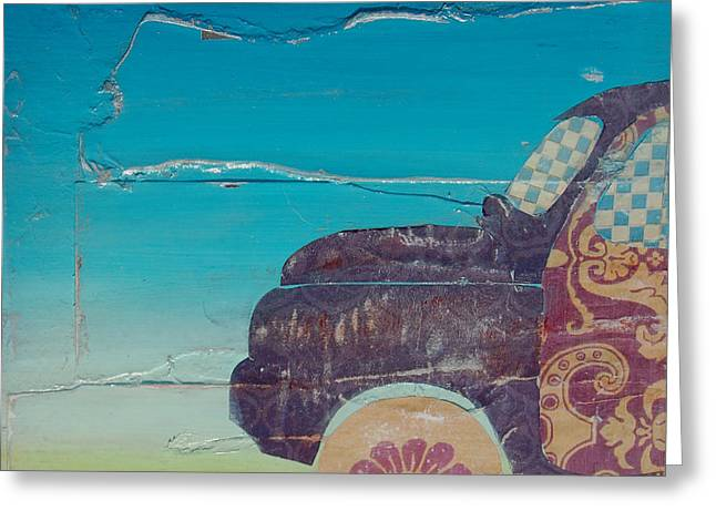 Whimsical Mixed Media Greeting Cards - Driving Sound Greeting Card by Danny Phillips