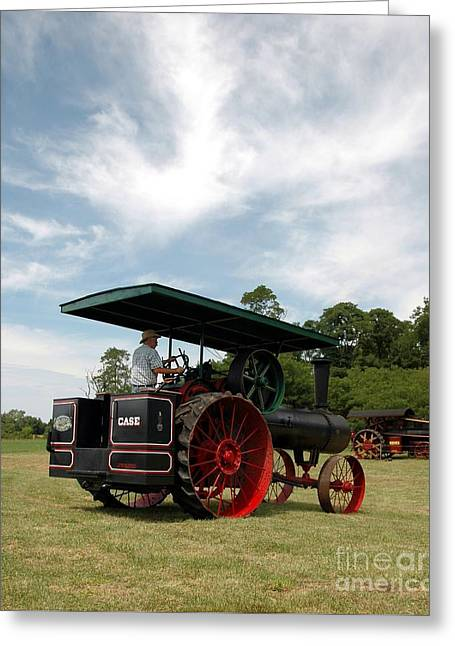 Old Western Photos Greeting Cards - Driving The Engine Greeting Card by Kathleen Struckle
