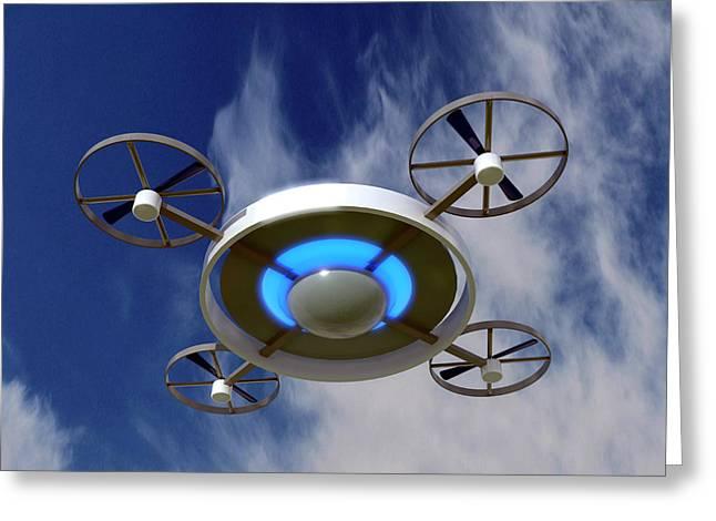 Drone Greeting Card by Christian Darkin