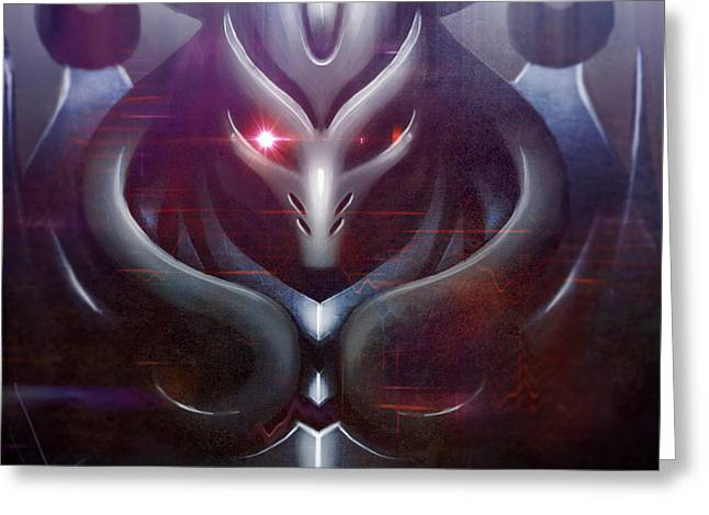 Mecha Greeting Cards - Drone Greeting Card by Nayu Avilsin