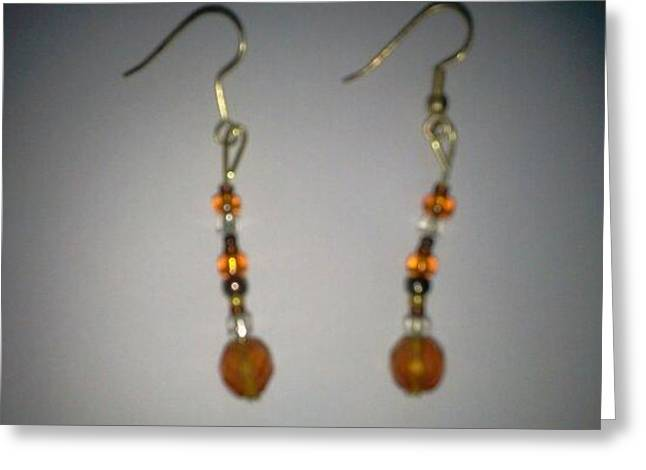 Hardware Jewelry Greeting Cards - Drop Earrings Greeting Card by Karen Jensen
