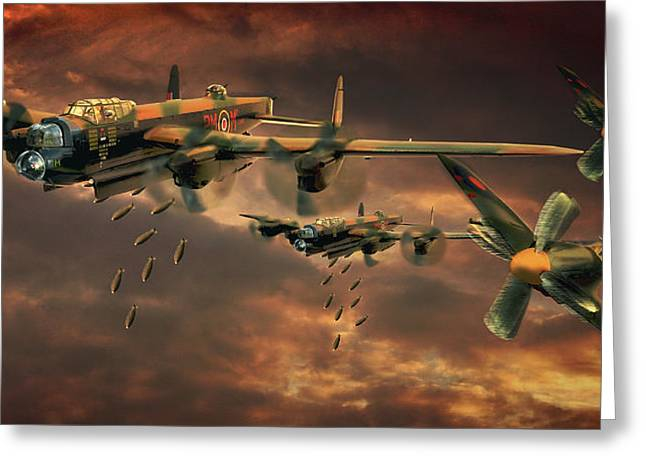 Drop Zone Greeting Card by Steven Agius