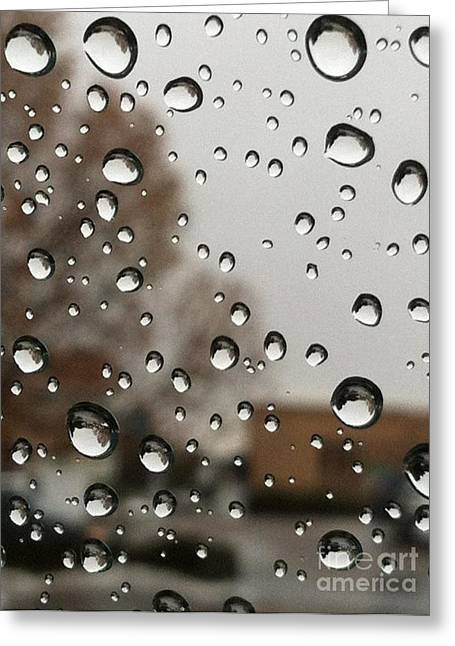 Outlook Bleak Greeting Cards - Droplet Patterns Greeting Card by Barbara Chase