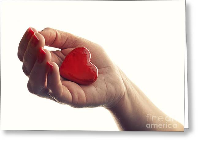 Breakup Greeting Cards - Dropping heart Greeting Card by Sinisa Botas