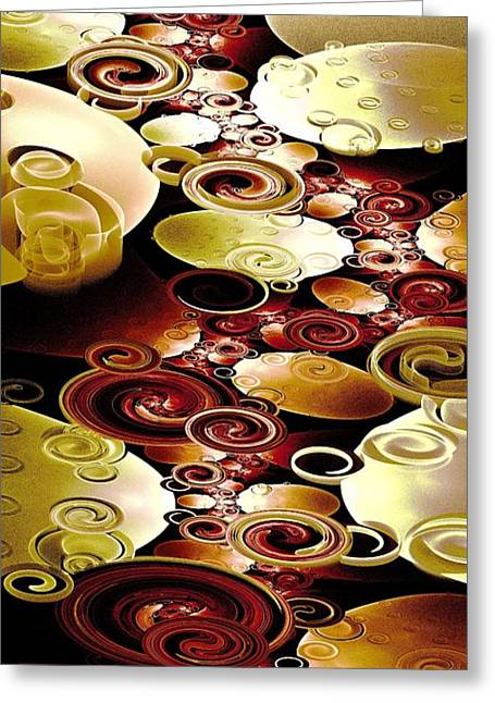 Malakhova Greeting Cards - Drops and Ripples Greeting Card by Anastasiya Malakhova
