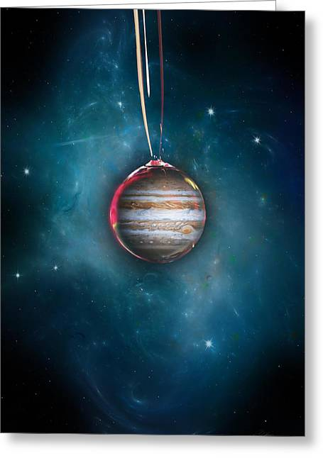 Droplet Digital Art Greeting Cards - Drops Of Jupiter Greeting Card by Peter Chilelli