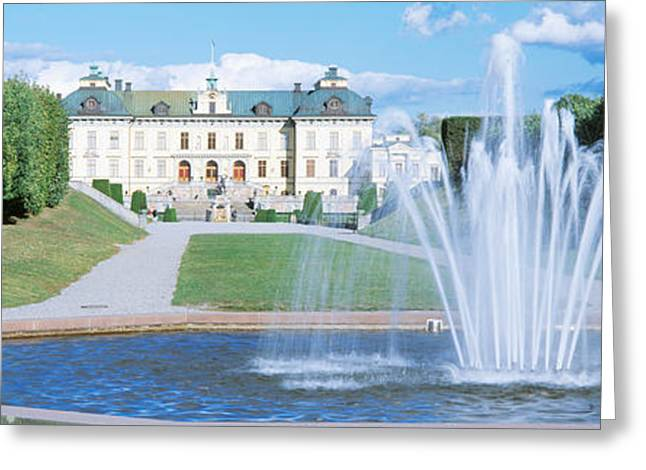 Grass Courts Greeting Cards - Drottningholm Palace, Stockholm, Sweden Greeting Card by Panoramic Images