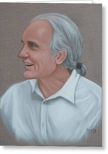 Gray Hair Pastels Greeting Cards - Dr.Otto Greeting Card by Pat Neely