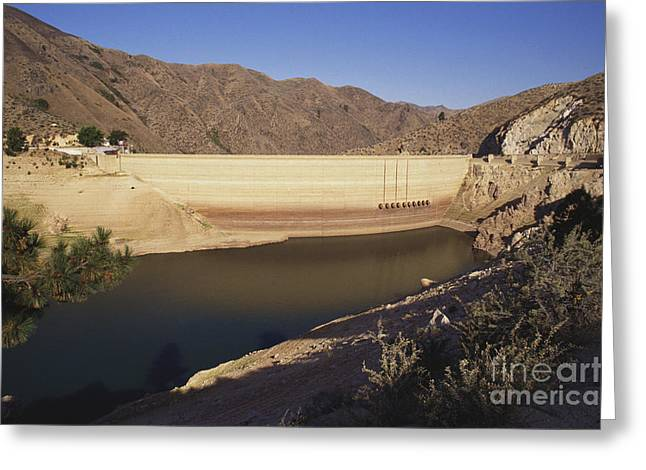 Land Reclamation Greeting Cards - Drought, Arrowrock Dam Greeting Card by William H. Mullins