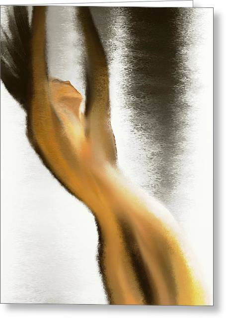Mood Art Giclee Greeting Cards - Drown in the rain Greeting Card by Len YewHeng