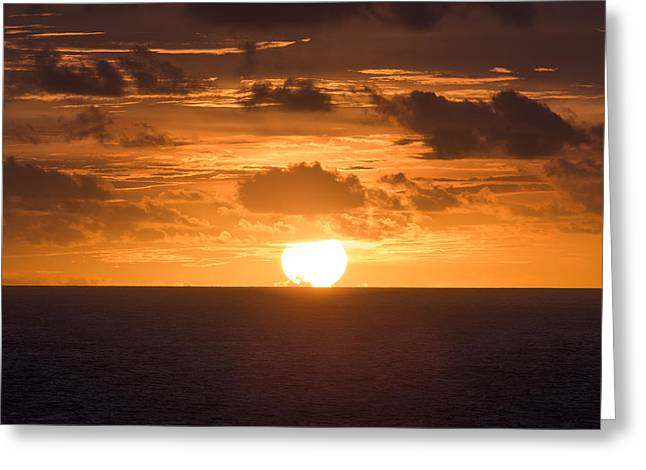 Greeting Cards - Drowning Sun Greeting Card by Ocean Photos