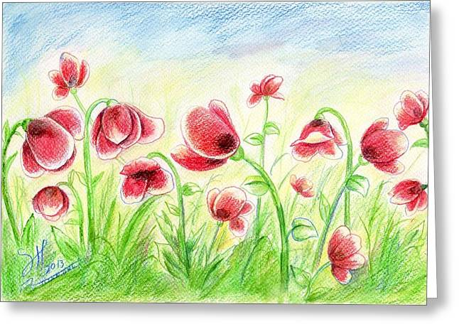 Framed Anti Drug Print Greeting Cards - Drugged Flowers Greeting Card by Shirwan Ahmed