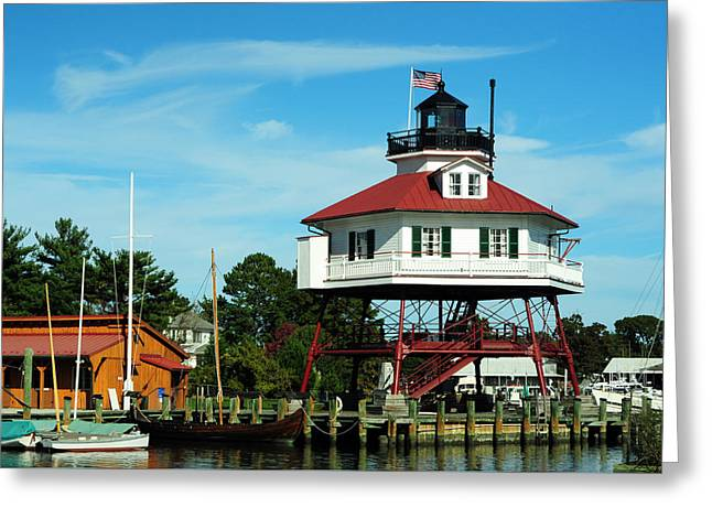 Drum Point Lighthouse Greeting Card by Rebecca Sherman