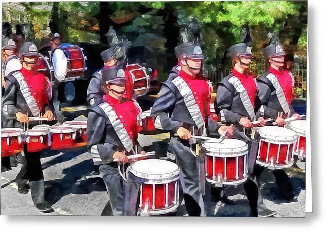Drum Section Greeting Card by Susan Savad