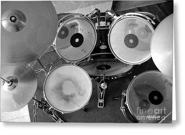 Ride Cymbal Greeting Cards - Drum Set 01				 Greeting Card by E B Schmidt