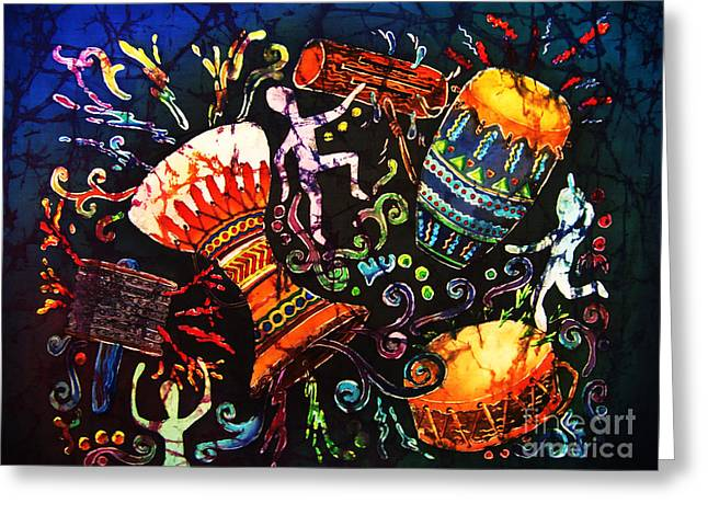 Drumbeat Greeting Card by Sue Duda