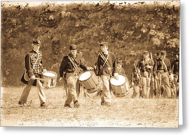 Marching Band Greeting Cards - Drummer Boys Greeting Card by Steve McKinzie