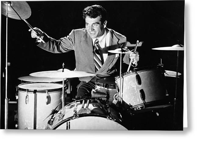 Drummer Gene Krupa Greeting Card by Underwood Archives