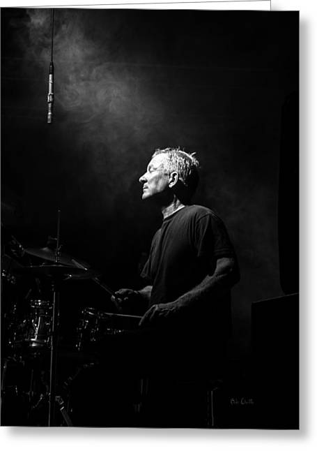 Drummers Photographs Greeting Cards - Drummer Portrait of a Muscian Greeting Card by Bob Orsillo