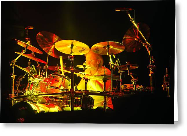 Status Quo Greeting Cards - Drummer - Status Quo Greeting Card by Heather Provan