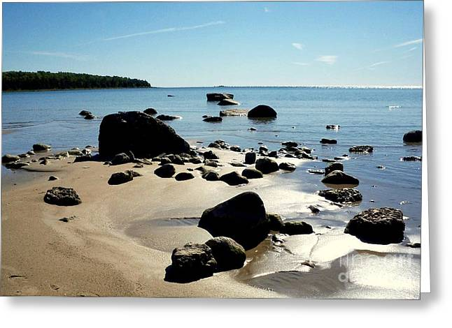 Desiree Paquette Greeting Cards - Drummond Shore 2 Greeting Card by Desiree Paquette