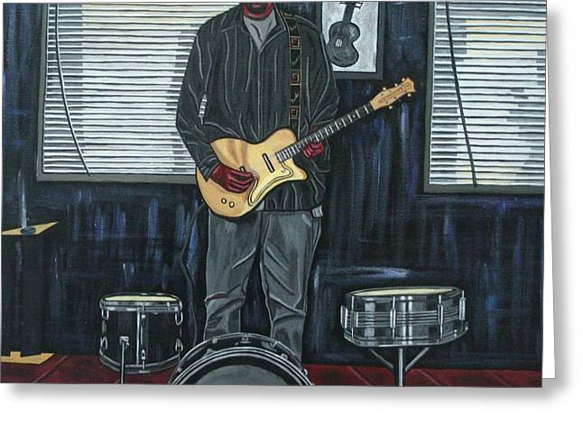 Drums And Wires Greeting Card by Sandra Marie Adams