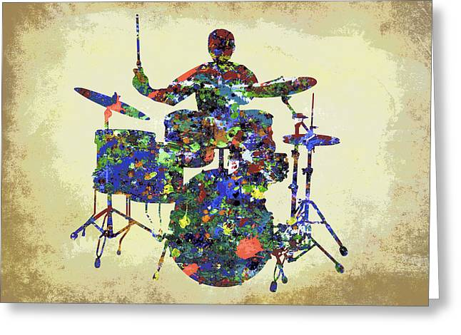 Hi Hat Greeting Cards - DRUMS in the SPOTLIGHT Greeting Card by Daniel Hagerman