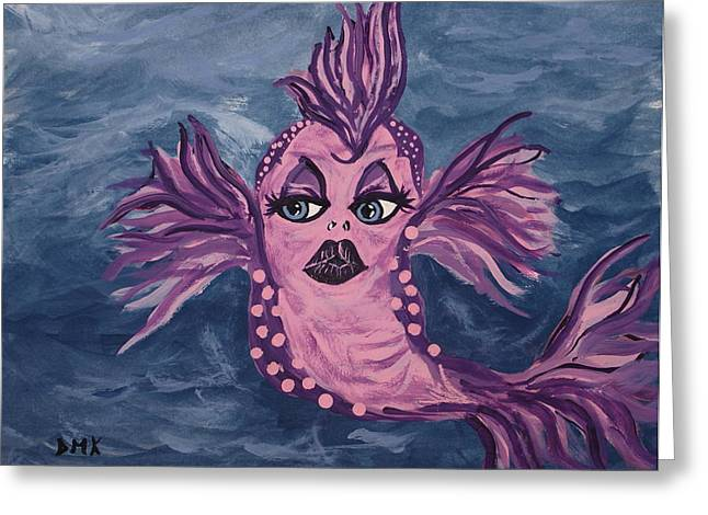 Fantasy Creatures Pastels Greeting Cards - Drusilla Greeting Card by Debbie May