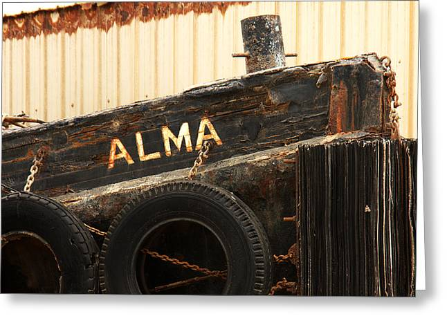 Morro Bay Ca Greeting Cards - Dry Docked Alma Greeting Card by Art Block Collections