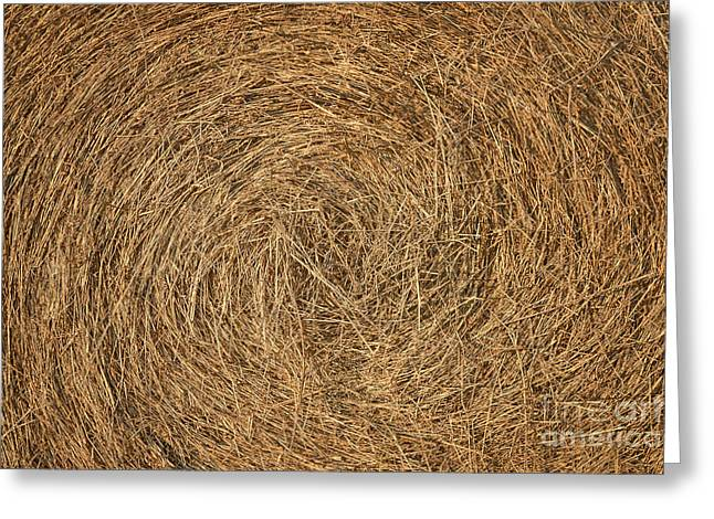 Hayrick Greeting Cards - Hay Texture Greeting Card by Cristian M Vela